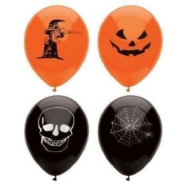 15 x Kids Halloween Party Assorted Balloons Trick or Treat Scary Spooky Fun